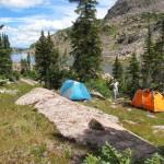 Лагерь на берегу озера Баббл