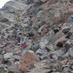 Спуск с главного хребта после попытки восхождения на Иглс Нест