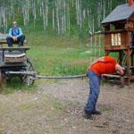 Женя и Олег в ранчо на озере Пайни