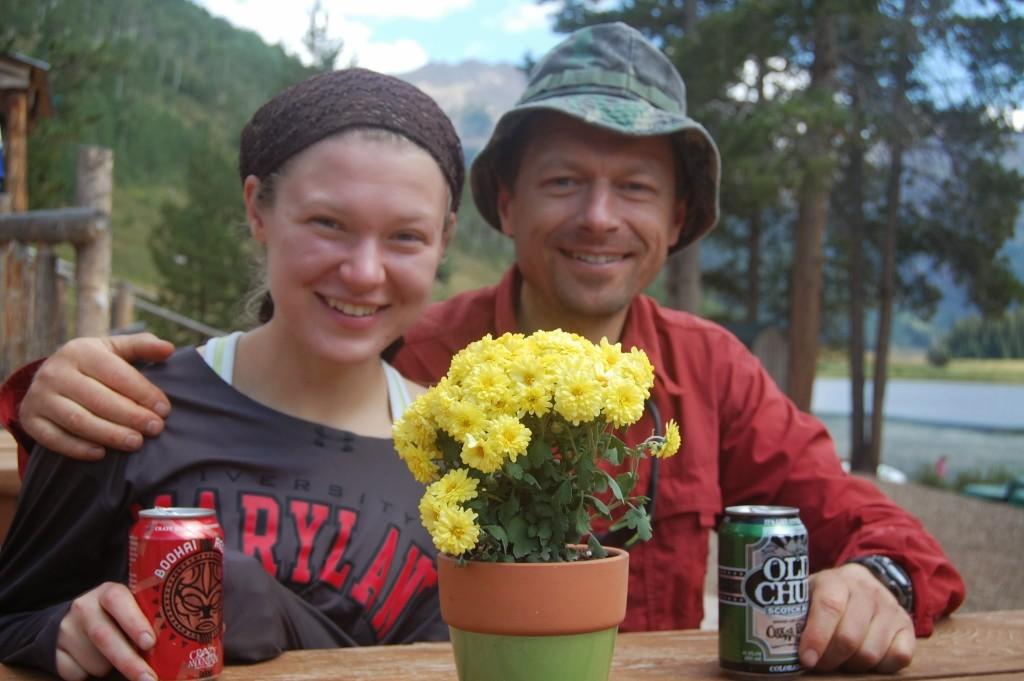 Автор с дочерью Дашей в ранчо на озере Пайни