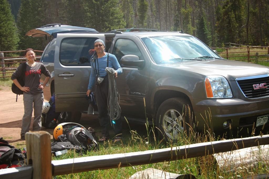 Подготовка к выезду из гор