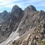 Выход на гребень хребта Гора севернее пика D