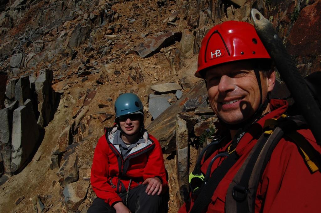 Алёша и Саша Б. во время подъёма на пик Вилсон.