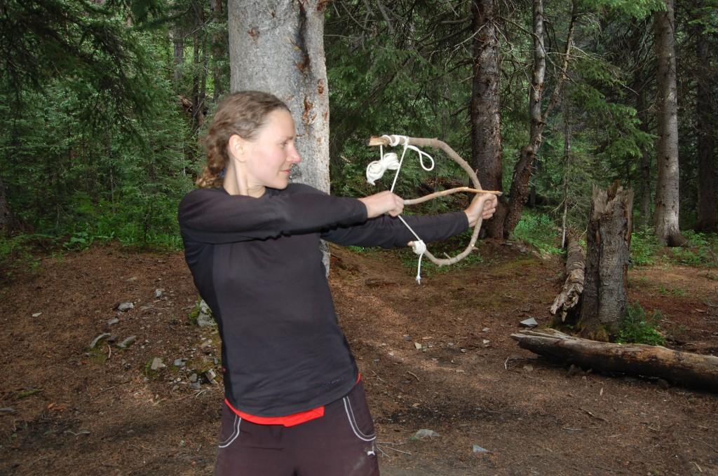 Таня в лагере в бассейне Килпакер