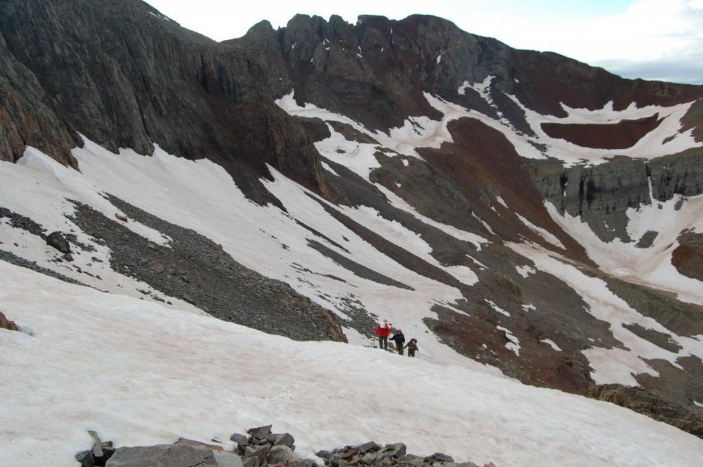 Подъём на Эл Денте. Сзади – гора Вилсон