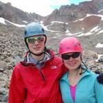 Алексей и Даша после восхождения на пик Эл Денте. Сзади – верхняя часть бассейна Килпакер