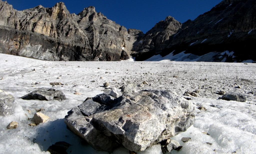 Подход к г. Фэй: верхняя часть ледника.