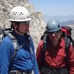 Дима и Букреев во время подъёма на гору Хекель. Фото: И.С.