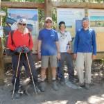 После спуска к началу тропы около озера Сабрайна: Игорь, Денис, Савва, Дима. Фото: А.Б.