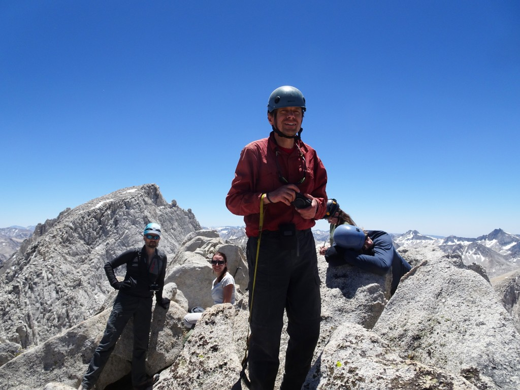 Mt. Mills summit, 13,451 ft. Rodion Turuikhan, Yulia Ersin, Alexander Bukreyev, Nadiya Teplyuk, Sergey Los (left to right). Photo credit Oleg Shakhtmeyster.